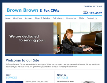 Acclaim CPA Website Template