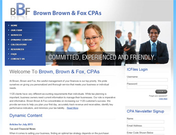 Addison CPA Website Template