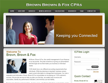 Alpine CPA Website Template