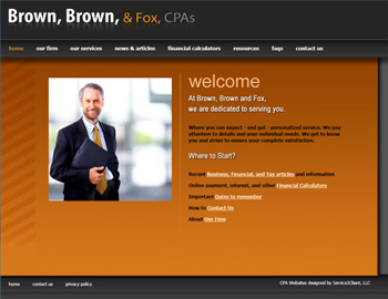 Aplomb CPA Website Template