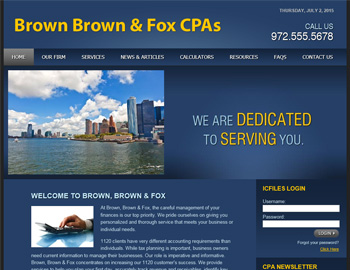 Bloomfield CPA Website Template