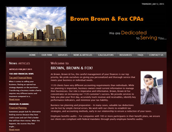Brownstone CPA Website Template