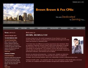 Brownstone CPA Website Template