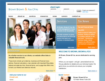 Elite CPA Website Template