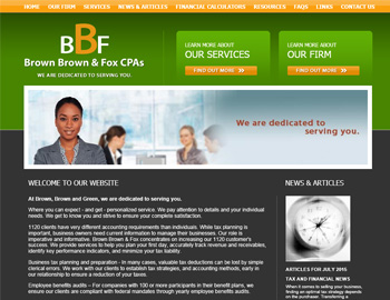 Hawthorn CPA Website Template