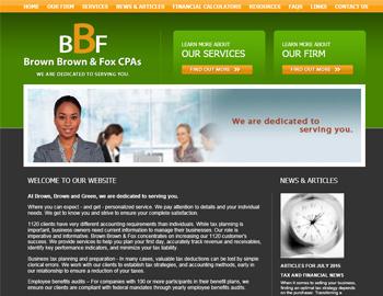 Hawthorn CPA Website Template