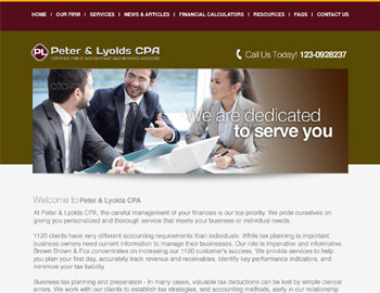 Heath CPA Website Template