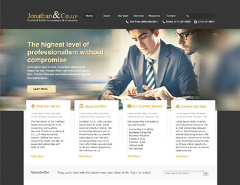 Kerrville CPA Website Template