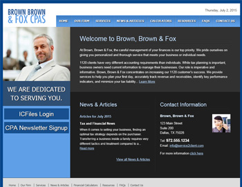 LaGrange CPA Website Template