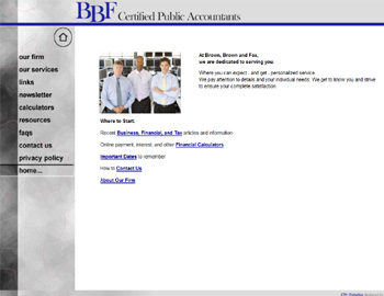 Light Marble CPA Website Template