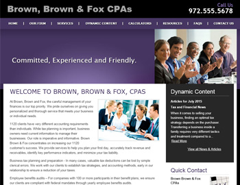 Memphis CPA Website Template