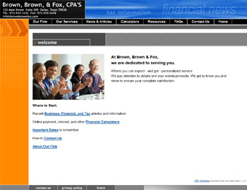 Metro Basic CPA Website Template