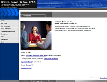 Metro Blue CPA Website Template
