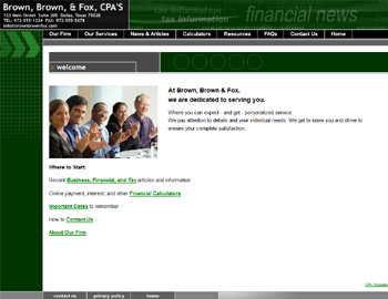Metro Green CPA Website Template