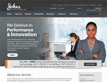 Plainview CPA Website Template
