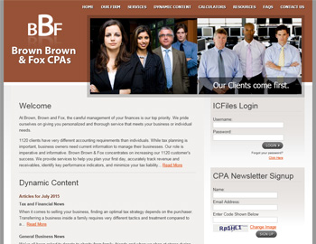 Rusk CPA Website Template
