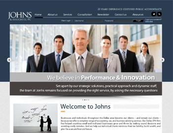 Stanford CPA Website Template