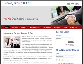 Stanton CPA Website Template