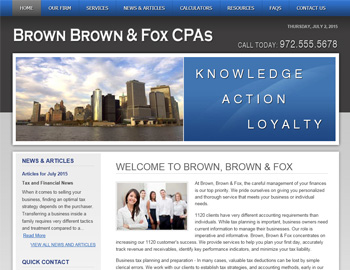 Westmere Blue CPA Website Template