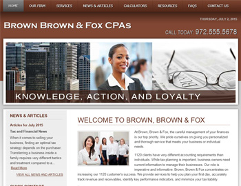Westmere Brown CPA Website Template