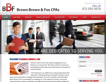 Yorkfield CPA Website Template