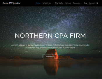 Aurora CPA Website Template