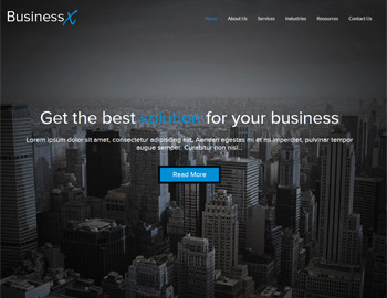 CPA Website Template BusinessX