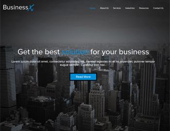 CPA Website Template BusinessX