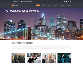 BusinessZ Bank WordPress Theme