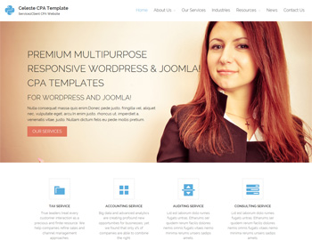 Celeste CPA Website Theme