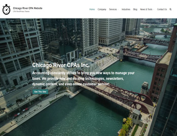 Chicago River CPA Website Theme