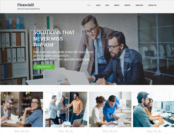 FinancialX Bank Website Theme