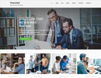 FinancialX Bank Website Theme