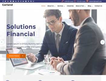 Garland CPA WordPress Template