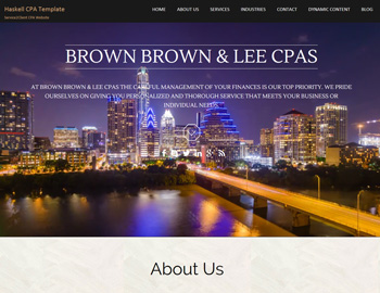 Haskell CPA WordPress Template