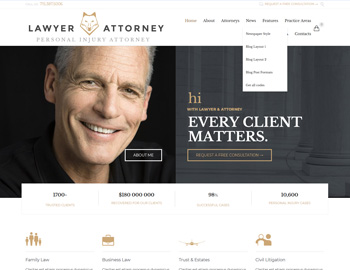 LA Law WordPress Template