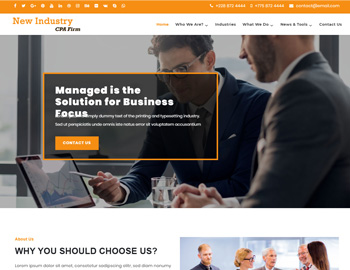 New Industry CPA WordPress Theme