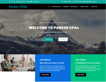 Parker CPA WordPress Theme