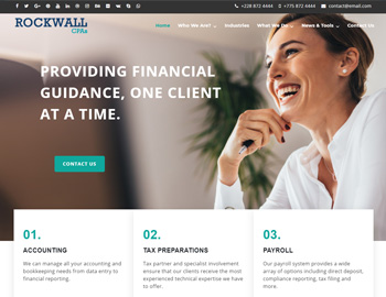 Rockwall CPA WordPress Theme